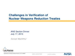 Challenges in Verification of  Nuclear Weapons Reduction Treaties