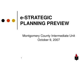 e-STRATEGIC PLANNING PREVIEW