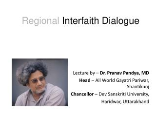 Regional  Interfaith Dialogue