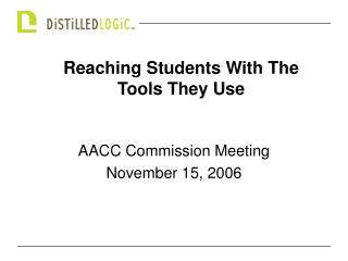 AACC Commission Meeting November 15, 2006