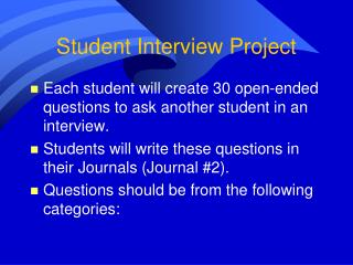 Student Interview Project