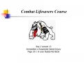 Combat Lifesavers Course