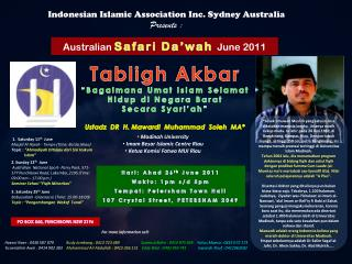 Indonesian Islamic Association Inc. Sydney Australia Presents :