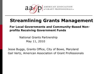 Streamlining Grants Management