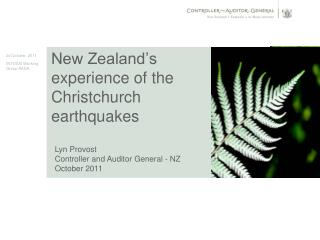 New Zealand's experience of the Christchurch earthquakes