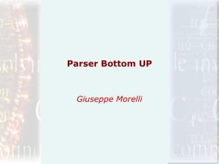Parser Bottom UP
