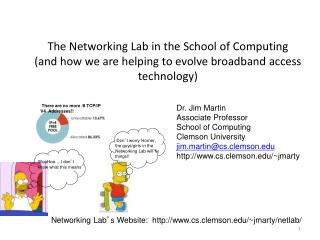 Dr. Jim Martin Associate Professor School of Computing Clemson University