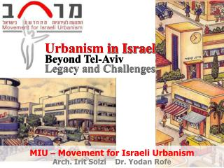Urbanism  in Israel Beyond Tel-Aviv   Legacy and Challenges