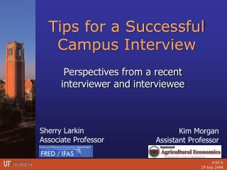 Tips for a Successful Campus Interview