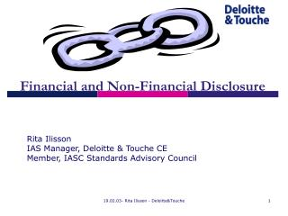 Financial and Non-Financial Disclosure