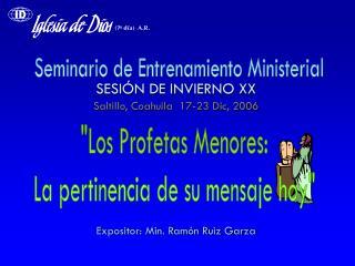 Seminario de Entrenamiento Ministerial
