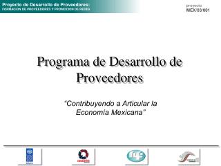 Programa de Desarrollo de Proveedores