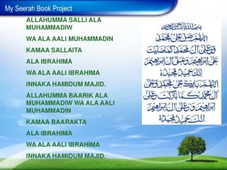 My  Seerah  Book Project