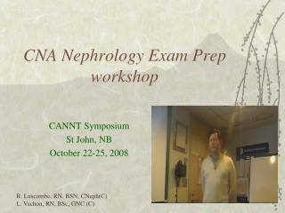 CNA Nephrology Exam Prep workshop
