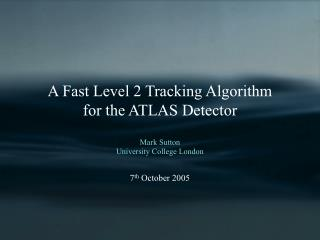 A Fast Level 2 Tracking Algorithm  for the ATLAS Detector