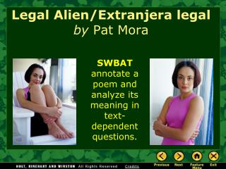 Legal Alien/Extranjera legal by  Pat Mora