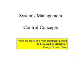 Systems Management Control Concepts