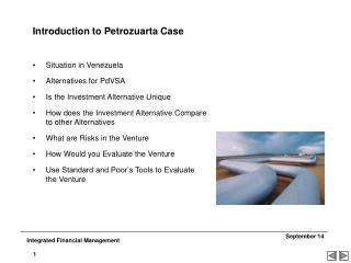 Introduction to Petrozuarta Case