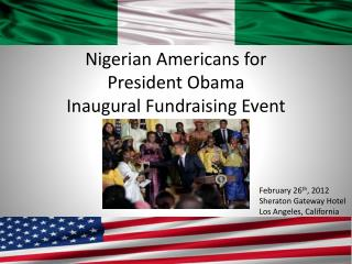 Nigerian Americans for  President Obama Inaugural Fundraising Event