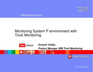 Monitoring System P environment with Tivoli Monitoring