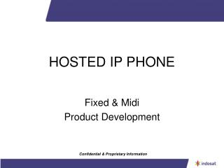 HOSTED IP PHONE