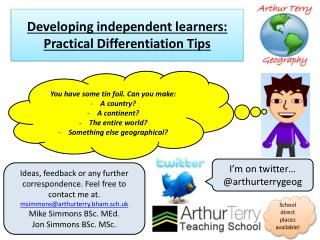Developing independent learners: Practical Differentiation Tips