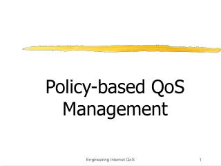 Policy-based QoS Management