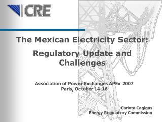 The Mexican Electricity Sector:  Regulatory Update and Challenges