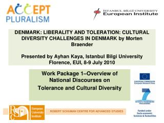 Work Package 1–Overview of National Discourses on  Tolerance and Cultural Diversity