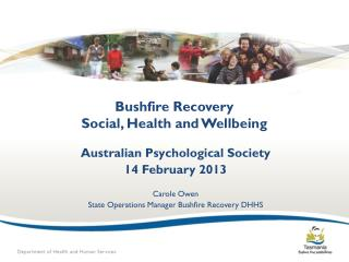 Bushfire Recovery Social, Health and Wellbeing