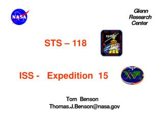 STS – 118   ISS -   Expedition  15