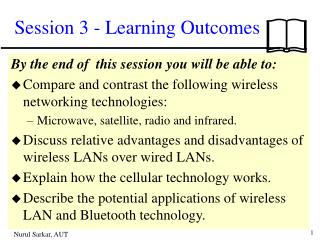 Session 3 - Learning Outcomes