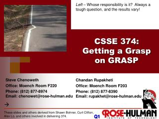 CSSE 374 : Getting a Grasp on GRASP