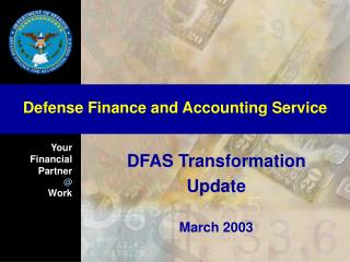 DFAS Transformation Update March 2003