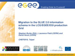 Migration to the GLUE 2.0 information schema in the LCG/EGEE/EGI production Grid
