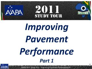 Improving Pavement Performance Part 1