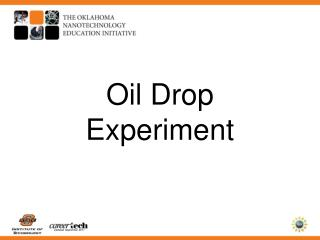 Oil Drop  Experiment