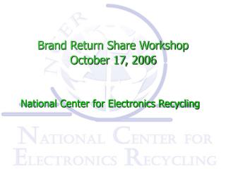 Brand Return Share Workshop  October 17, 2006
