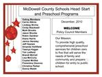 McDowell County Schools Head Start and Preschool Programs