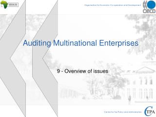 Auditing Multinational Enterprises