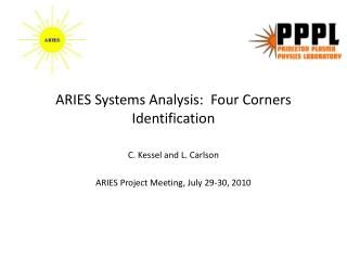 ARIES Systems Analysis:  Four Corners Identification