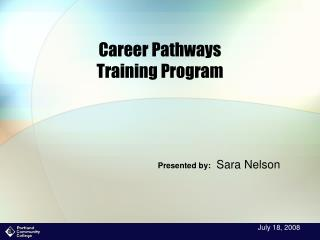 Career Pathways  Training Program
