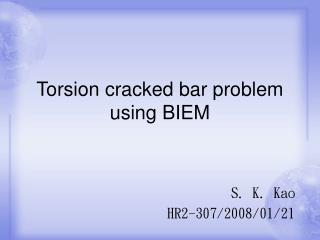 Torsion cracked bar problem using BIEM