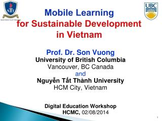 Mobile Learning  for Sustainable Development in Vietnam