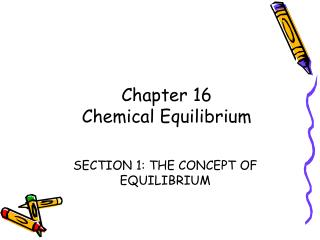 SECTION 1: THE CONCEPT OF EQUILIBRIUM
