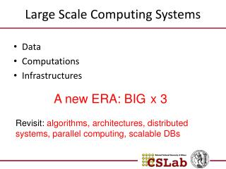 Large Scale Computing Systems