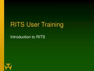 RITS User Training