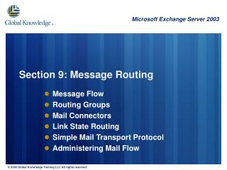 Section 9: Message Routing