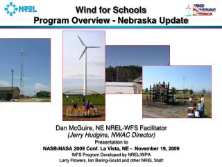 Wind for Schools  Program Overview - Nebraska Update