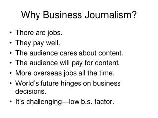 Why Business Journalism?